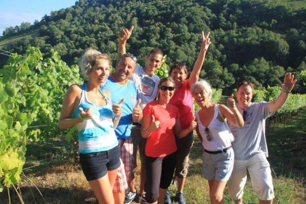 Escapade dans le vignoble d'Irouleguy-vin-arnoa-wine-irouleguy vineyard-AOC -visite chai-bodega-tasting of wine-degusation de vin-vigneron