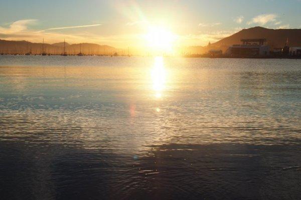 hendaye, Hendaya, sunset of txingudi bay,bidassoa, bidassoa river, fontarrabie, hondarribia, plage, hondartzak, beach, playa