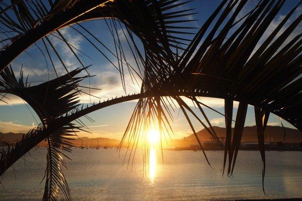 Baie de txingudi-hendaye-couché de soleil au pays basque-txingudi bay-the basque country sunset