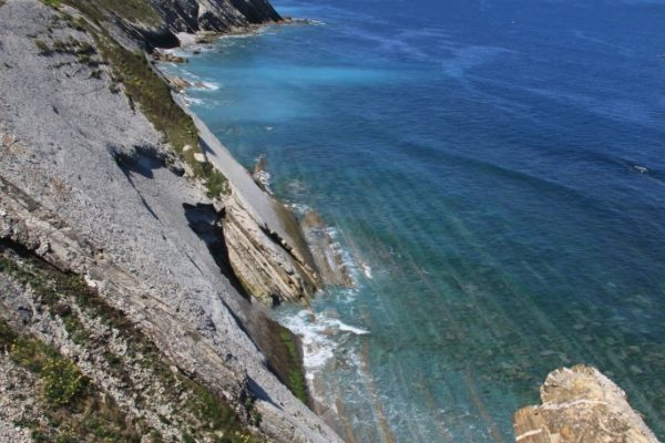 corniche sauvage basque, iparalde, route de la corniche au pays basque, flysh, falaise, cliff road